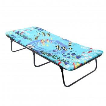 Кровать раскладная детская и матрас 145х65х26 см, до 60 кг
