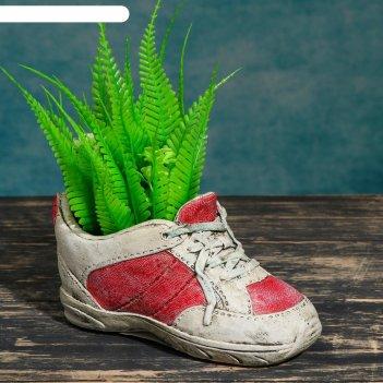 Кашпо фигурное кроссовок красно-белое, 16,4*8*10см