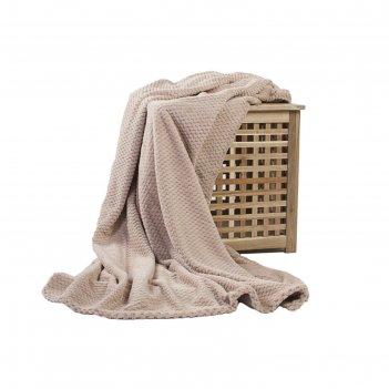 Плед elegance, размер 150х200 см, цвет бежевый, микрофибра 280 г/м2