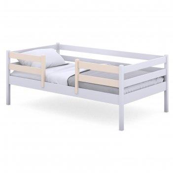 Кроватка viki, спальное место 160х80 см, цвет белый, борт бежевый