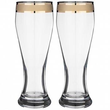 Набор 2 бокалов для пива 415 мл кольцо