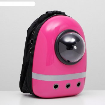 Рюкзак для переноски животных с окном для обзора, 32 х 22 х 43 см, фуксия