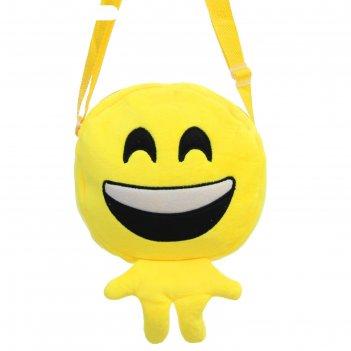 Мягкая сумочка смайлик смеётся