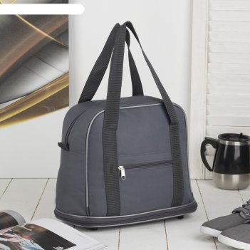 7886 п-600 сумка хозяйственная трансформер, 32*27/38*15, серый, 1 отд, 1 н