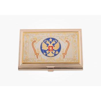 Визитница  герб россии эмаль златоуст