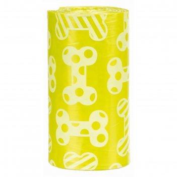 Пакеты trixie для уборки за собаками с запахом лимона, м, 4 рулона по 20 ш