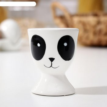 Подставка для яиц доляна «панда», 5x5x6,2 см