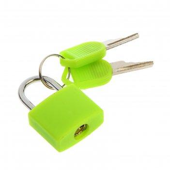 Замок навесной для чемодана, малый, цвет зелёный