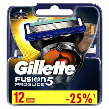 Сменные кассеты gillette fusion5 proglide, 12 шт.