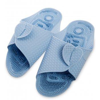 Msg-03/09-l массажные тапочки голубые, длина 27см