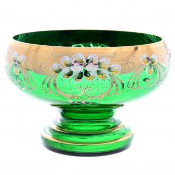 Фруктовница 32 см зеленая