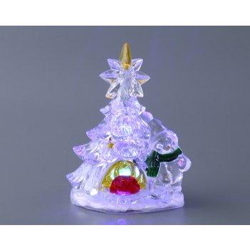 Елочка декоративная с подсветкой высота=14,5 см.