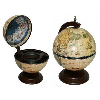 Глобус бар сокровища древнего мира настольный d=33см, 38*33*