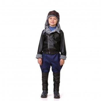 Карнавальный костюм лётчик, текстиль, куртка, брюки, шлем, р-р 34, рост 12