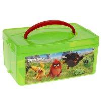 Ящик для игрушек с аппликацией angry birds movie с крышкой и ручкой, цвет