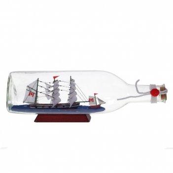 Изделие декоративное корабль в бутылке, l29 w8 h9 см