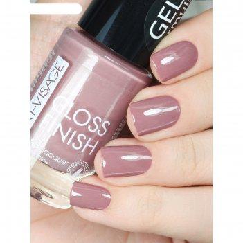 Лак для ногтей art-visage gloss finish, тон 114, какао