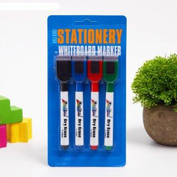 Набор маркеров с губками и магнитами классика набор 4 шт