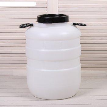 Бочка пластиковая 40 л, белая