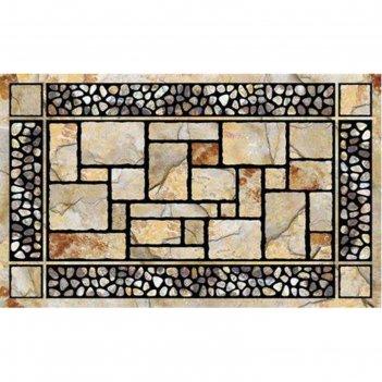 Коврик придверный 45х76 см, patio stones камни патио