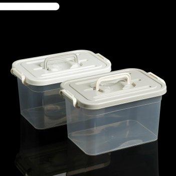 Контейнер для хранения 6,5 л, 31х20х18 см, цвет микс