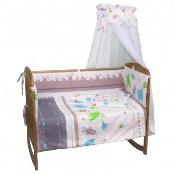 Комплект в кроватку «монстрики», размер 60x120 см, 7 предметов