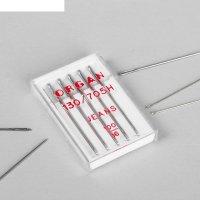 Иглы для бытовых швейных машин для джинсы 5 шт № 100 organ блистер