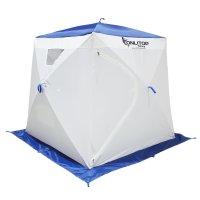 Палатка призма 170 (1-сл) люкс в95т1, бело-синяя