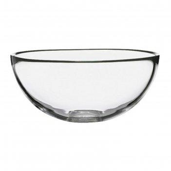 Миска сервировочная, прозрачное стекло бланда