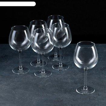Набор фужеров для вина 750 мл энотека, 6 шт.