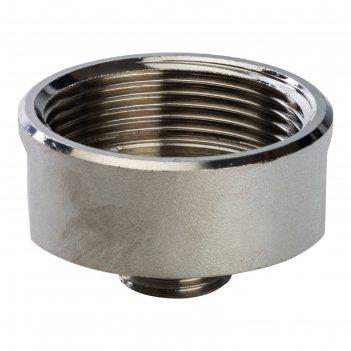 Переходник stout sft-0008-011212, никелированный, внутренняя/наружная резь