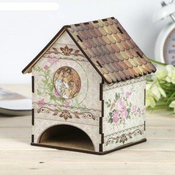 Чайный домик домик винтаж 15х12х11 см микс