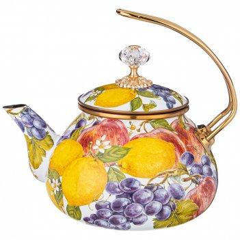 Чайник эмалированный agness, серия фландрия 2,2л