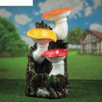 Фонтан  грибы 75 см полистоун