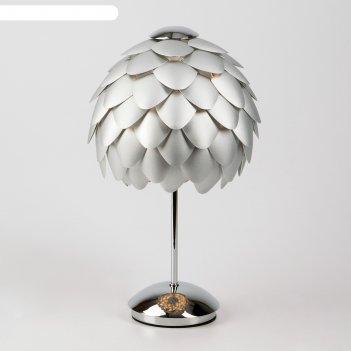 Настольная лампа cedro 60вт e27 хром 25x25x38см