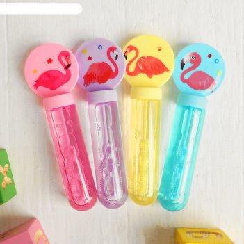 Мыльные пузыри фламинго 2,5х4,5х13,5 см микс