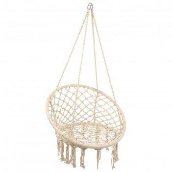 Гамак-кресло подвесное плетеное 80х80х120 см