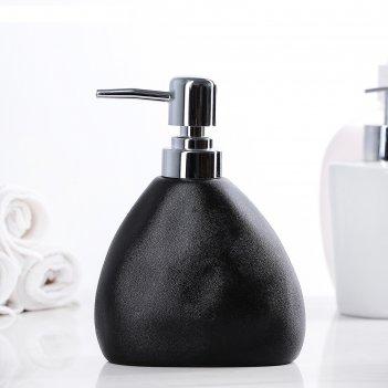Дозатор для жидкого мыла мужской, цвет чёрный