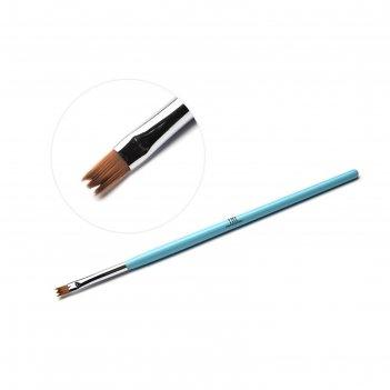Кисть для дизайна ногтей tnl фигурная «кружево», №6 голубая