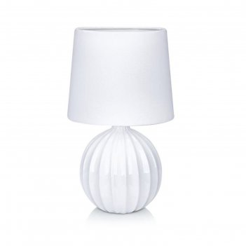 Настольная лампа melanie 1x40вт e14 белый