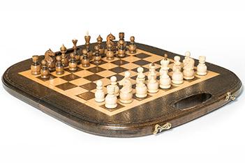 Шахматы + нарды резные овальные 40, haleyan