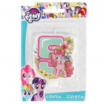 Свеча цифра №5 my little pony
