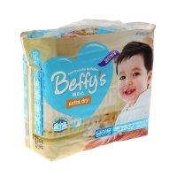 Подгузники beffys extra dry хl (от 13 кг) для девочек, 32 шт