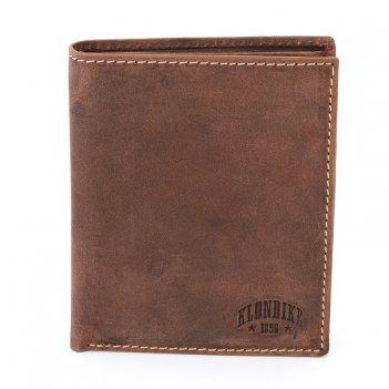 Бумажник klondike yukon, натуральная кожа в коричневом цвете, 10 х 2 х 12,