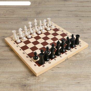 Шахматы гроссмейстерские (доска дерево 42х42 см, фигуры пластик, король h=