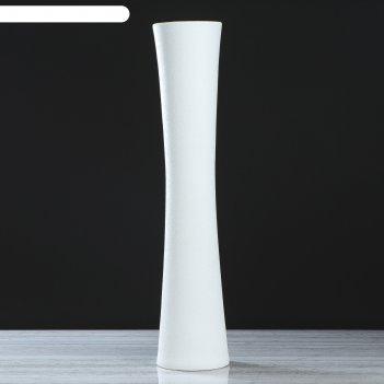 Ваза труба белая, шёлк, 77 см