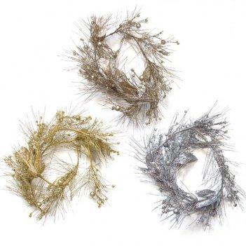 Новогоднее украшение гирлянда, l 150 см, 3 в.