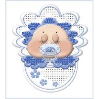 """""""магнит младенец голубой"""" рисунок для вышивания бисером"""
