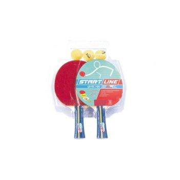 Набор startline 100 (2 ракетки, 3 мяча, блистерная упаковка)