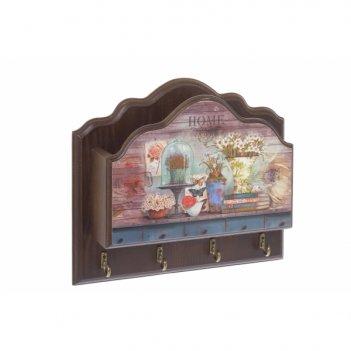 Ключница с ящиком для мелочей, 28х25х7.5 см
